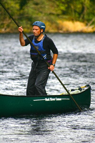 canoe poling dave rossetter