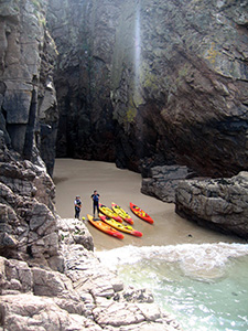 Jersey sea kayaking