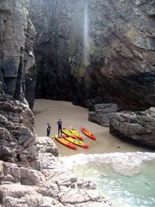 Jersey sea kayaking