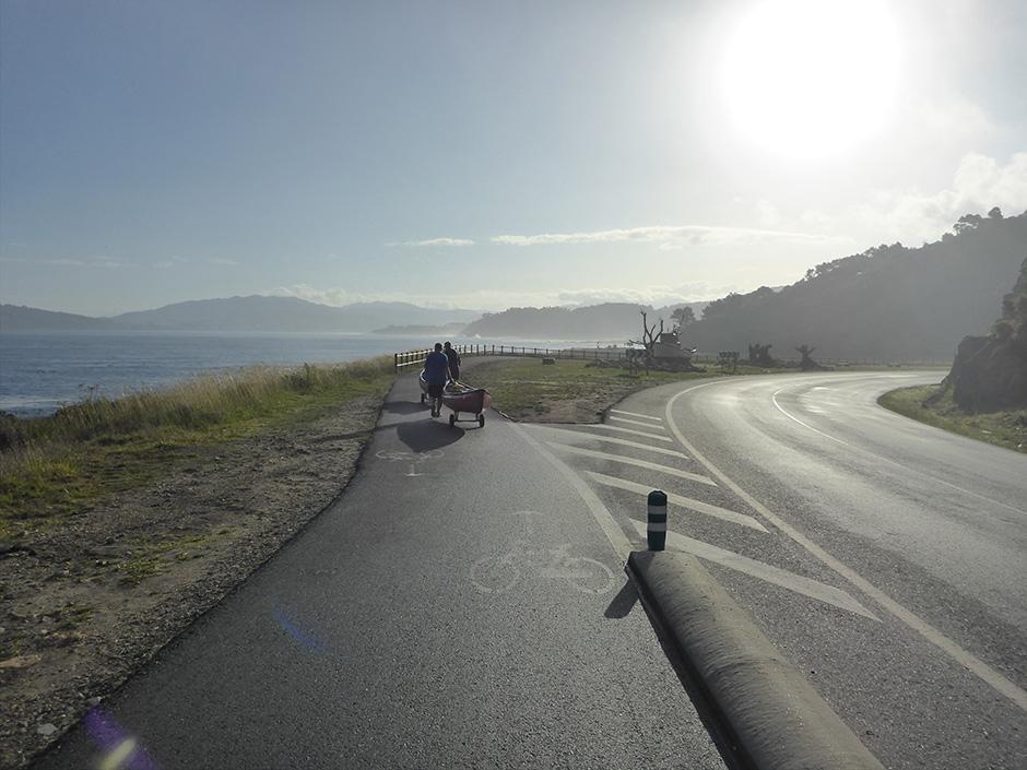 Heading towards Baiona