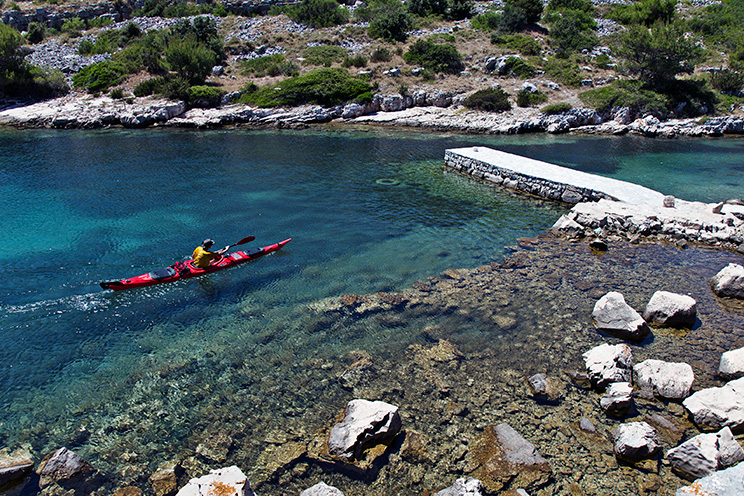 Croatian sea kayaking