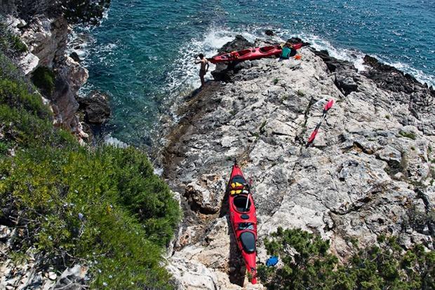 Croatian sea kayaking