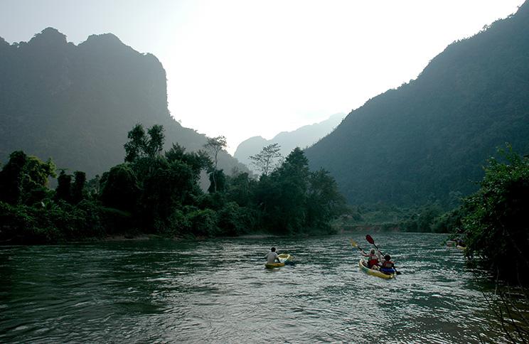 Kayaking Laos by Karla Held