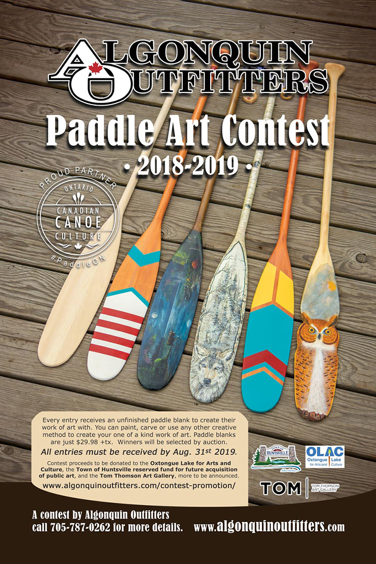 Algonquin Outfitters Paddle Art Contest