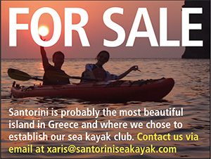 Santorini sea kayak